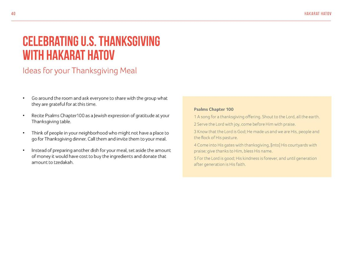 40  hak arat hatov  Celebrating U.S. Thanksgiving With Hakarat Hatov Ideas for your Thanksgiving Meal       Go around the ...