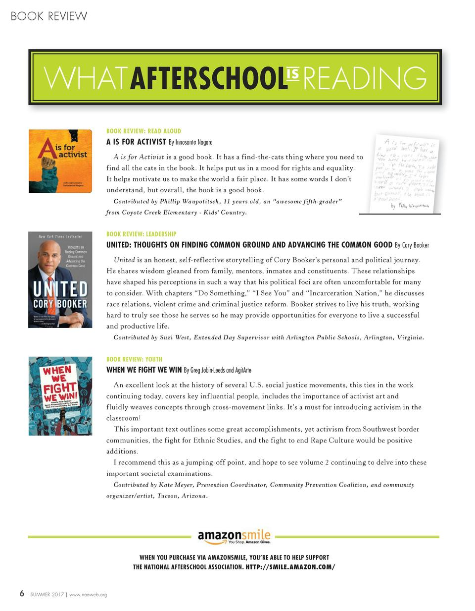 BOOK REVIEW  WHATAFTERSCHOOL READING IS  BOOK REVIEW  READ ALOUD  A IS FOR ACTIVIST By Innosanto Nagara A is for Activist ...