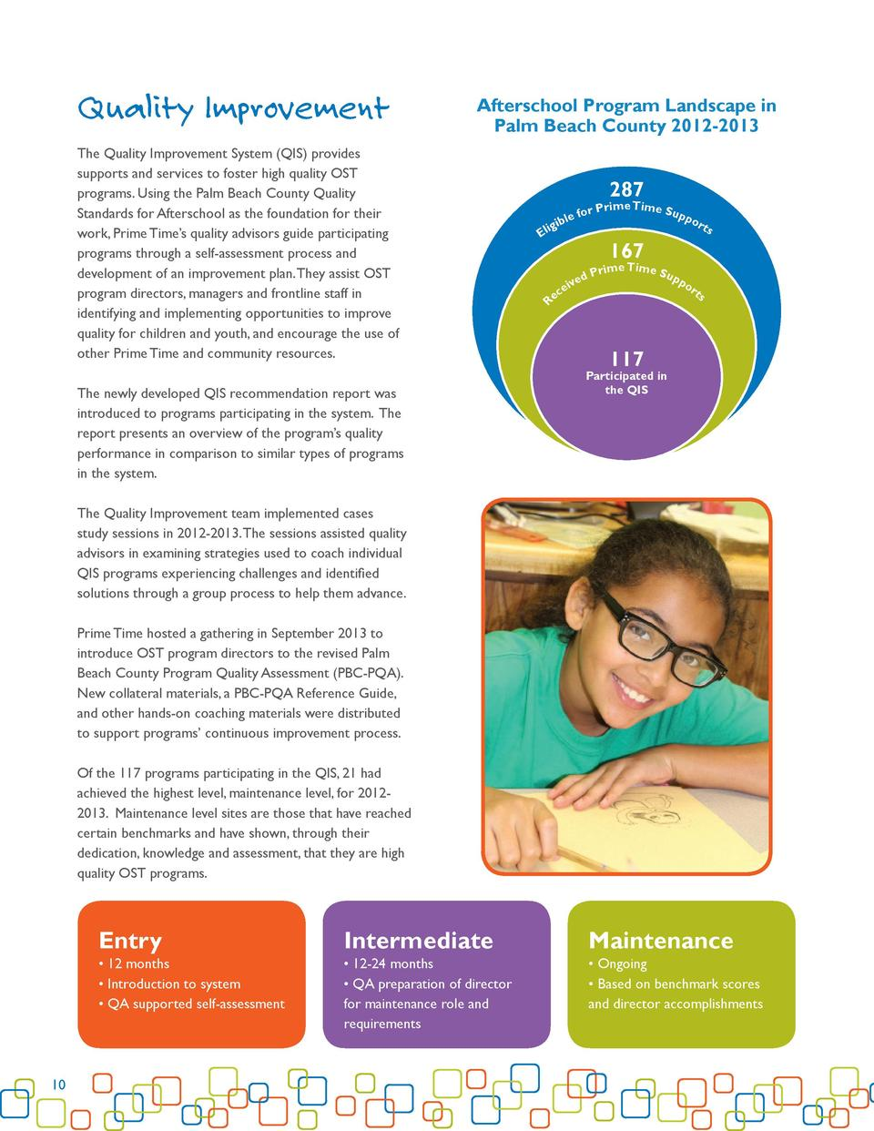 Quality Improvement  Afterschool Program Landscape in Palm Beach County 2012-2013  The Quality Improvement System  QIS  pr...