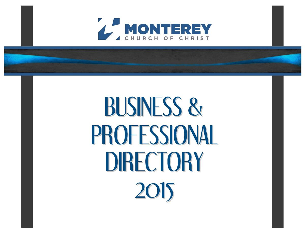 BUSINESS   PROFESSIONAL DIRECTORY 2015