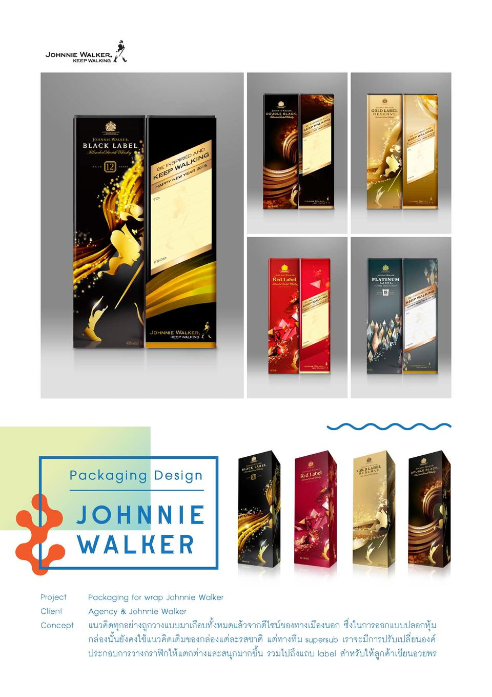 Packaging Design  johnnie walker Project Client Concept  Packaging for wrap Johnnie Walker Agency   Johnnie Walker        ...