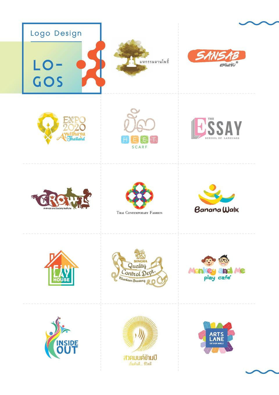 Logo Design  logos  Thai Contemporary Fashion