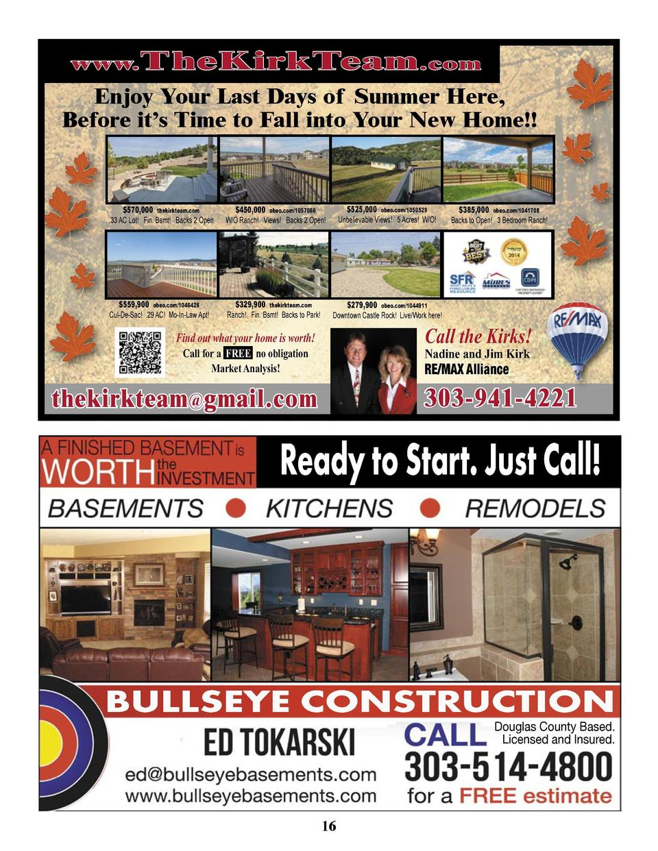 www. T heKirkTeam .com  Enjoy Your Last Days of Summer Here, Before it   s Time to Fall into Your New Home     570,000 the...