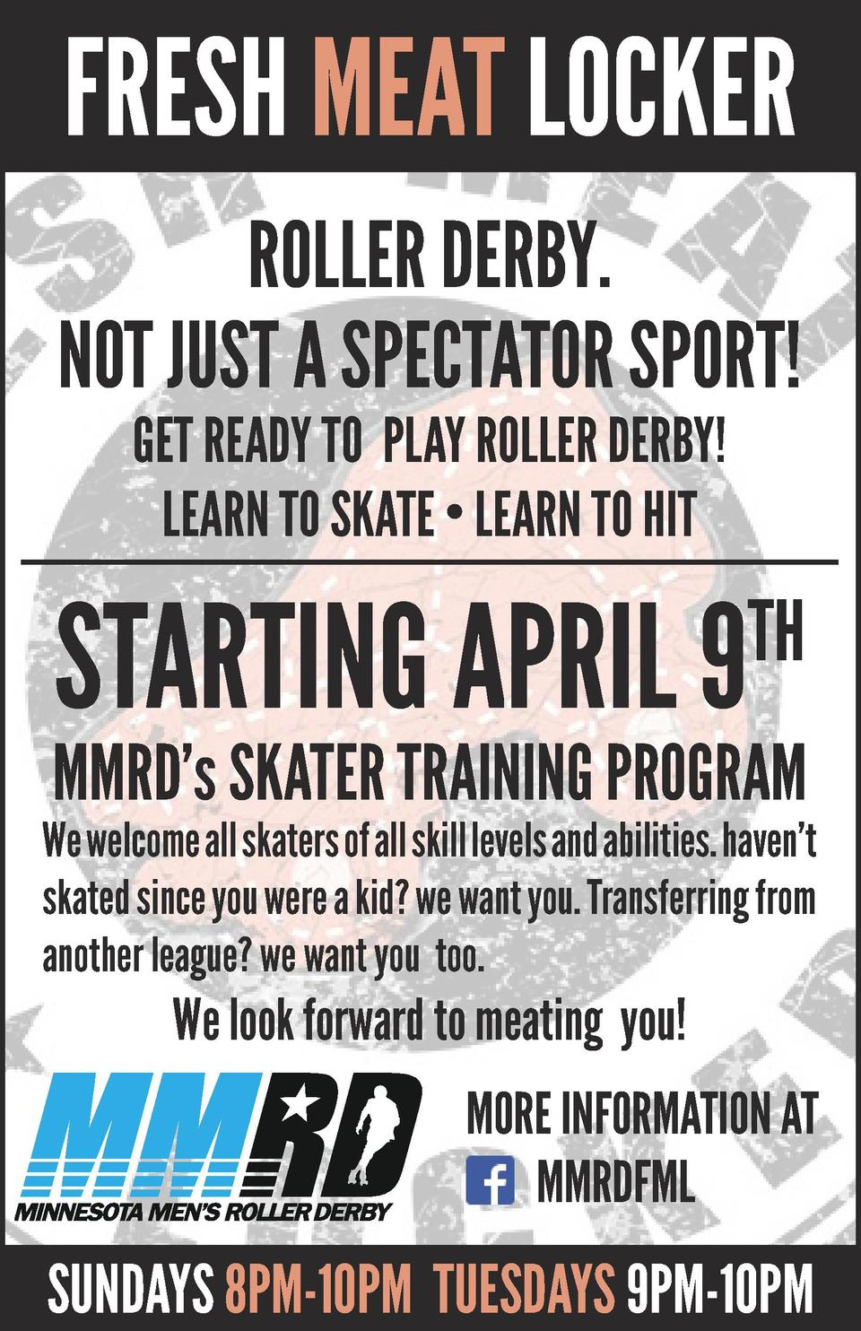 Fresh Meat Locker Roller Derby. Not just a spectator sport  Get ready to play roller derby  learn to skate     Learn to hi...