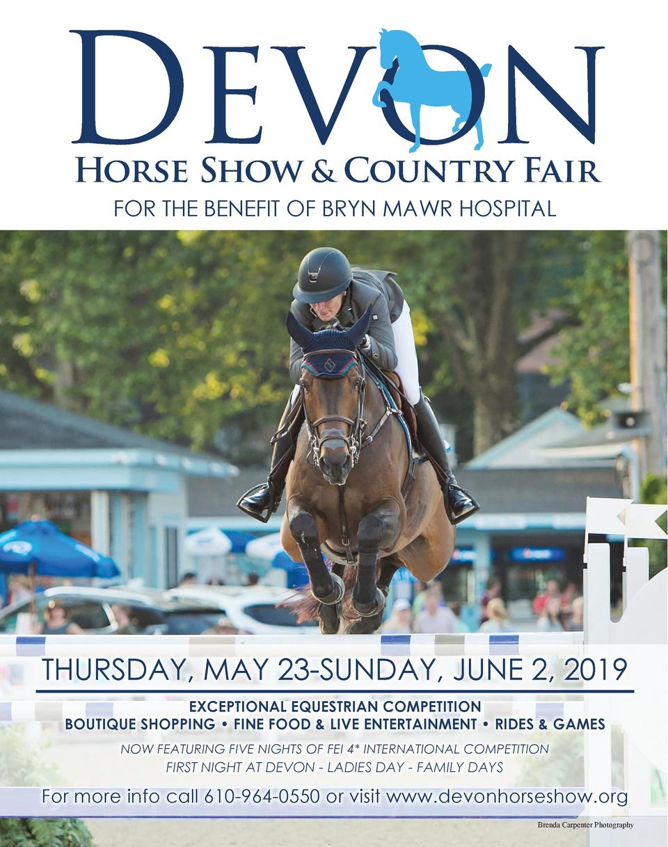 Horse Show   Country Fair FOR THE BENEFIT OF BRYN MAWR HOSPITAL  THURSDAY, MAY 23-SUNDAY, JUNE 2, 2019 EXCEPTIONAL EQUESTR...
