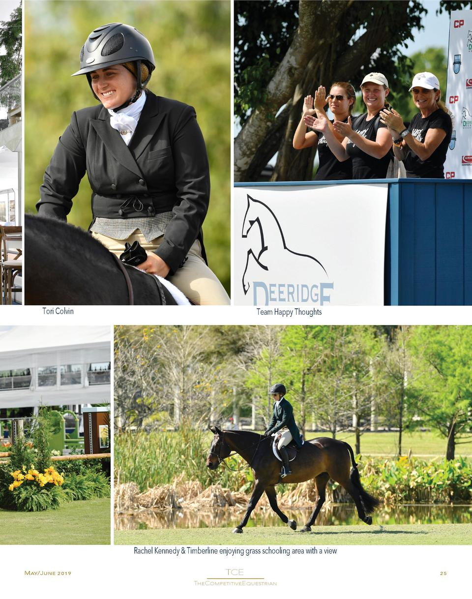 Tori Colvin  Team Happy Thoughts  Rachel Kennedy   Timberline enjoying grass schooling area with a view May June 2019  TCE...