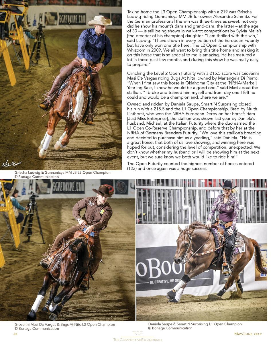 Taking home the L3 Open Championship with a 219 was Grischa Ludwig riding Gunnanicya MM JB for owner Alexandra Schmitz. Fo...