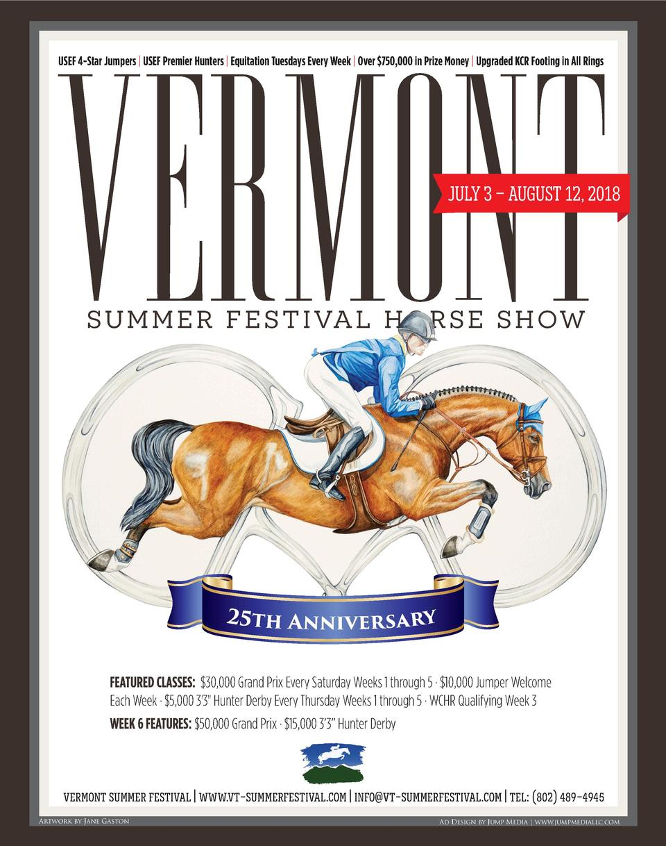 VERMONT USEF 4-Star Jumpers   USEF Premier Hunters   Equitation Tuesdays Every Week   Over  750,000 in Prize Money   Upgra...