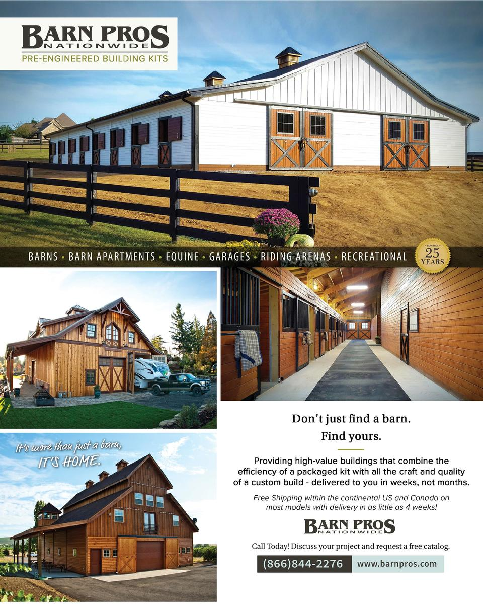 BARNS     BARN APARTMENTS     EQUINE     GARAGES     RIDING ARENAS     RECREATIONAL  It    s more than just a barn,  IT   ...