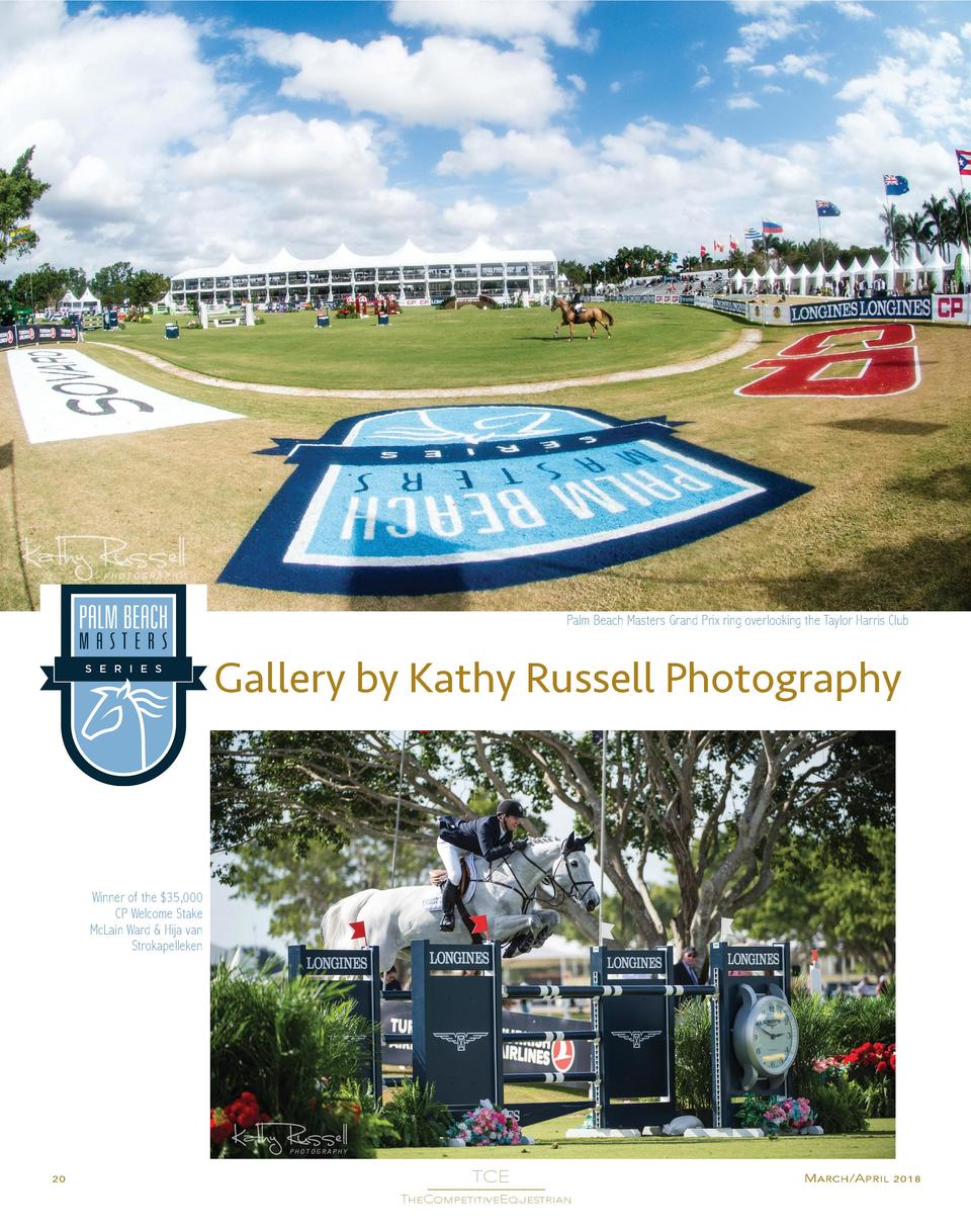 Palm Beach Masters Grand Prix ring overlooking the Taylor Harris Club  Gallery by Kathy Russell Photography  Winner of the...