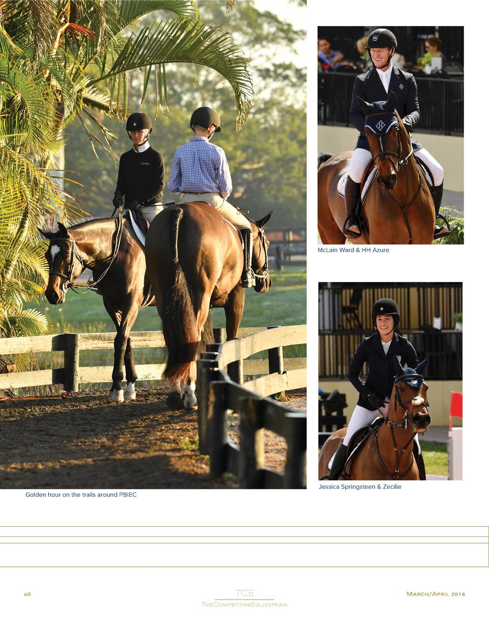McLain Ward   HH Azure  Jessica Springsteen   Zecilie  Golden hour on the trails around PBIEC  60  TCE  ________________ T...