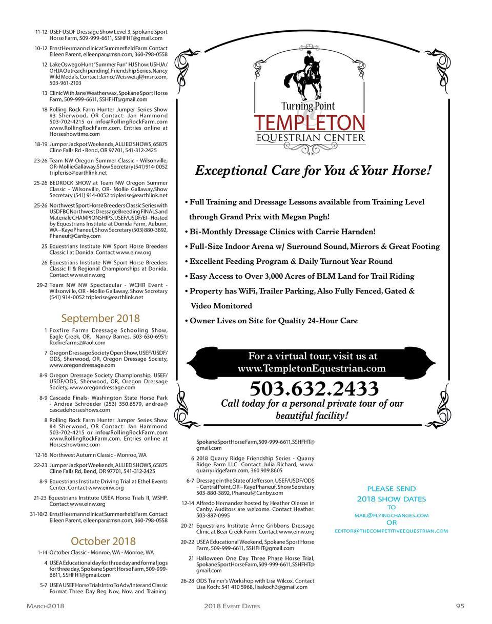 Tcemarchapril2018 Fitti Rainbow Regular S 12x12 12 Bags 11 Usef Usdf Dressage Show Level 3 Spokane Sport Horse Farm 509