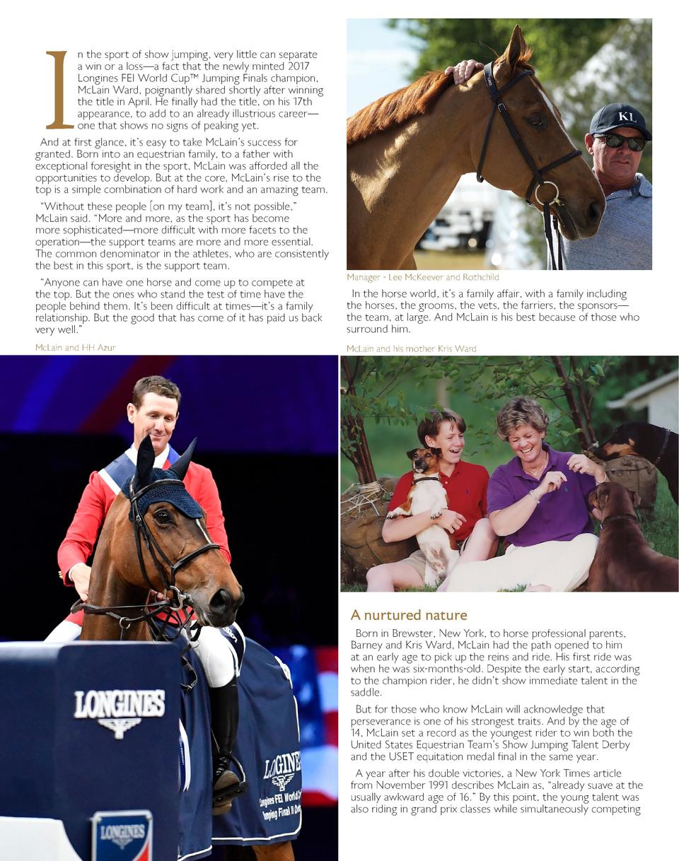 I  n the sport of show jumping, very little can separate a win or a loss   a fact that the newly minted 2017 Longines FEI ...