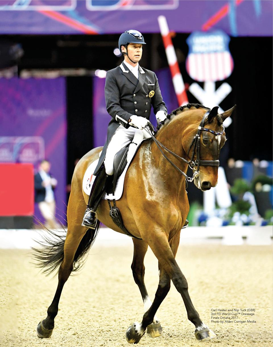 Carl Hester and Nip Tuck  GBR  3rd FEI World Cup    Dressage Finals Omaha 2017 Photo by Alden Corrigan Media