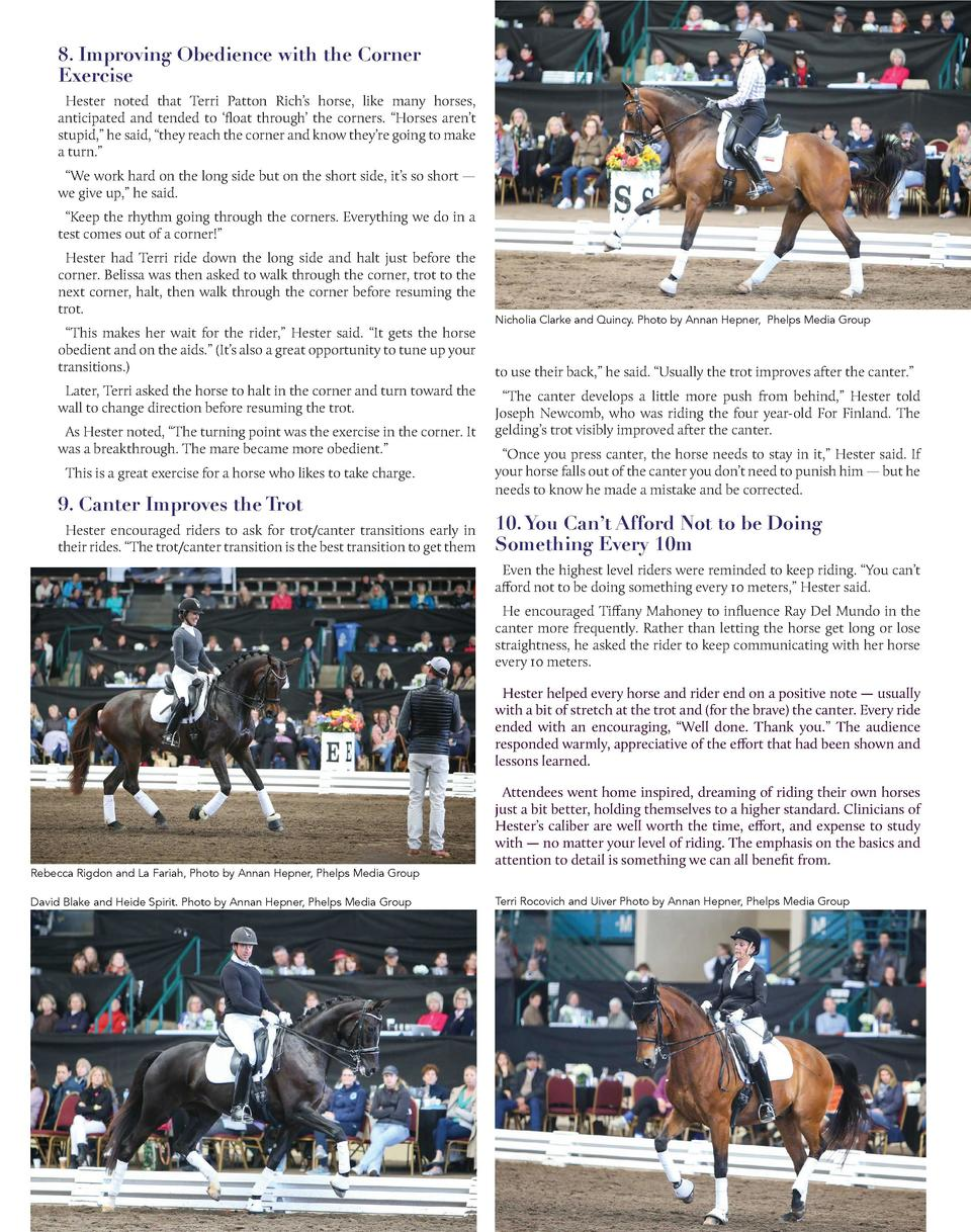 8. Improving Obedience with the Corner Exercise Hester noted that Terri Patton Rich   s horse, like many horses, anticipat...