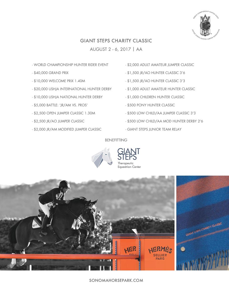 GIANTSTEPS STEPSCHARITY CHARITYCLASSIC CLASSIC GIANT AUGUST 2 - 6, 2017   AA AUGUST 2 - 6, 2017   AA - WORLD CHAMPIONSHIP ...