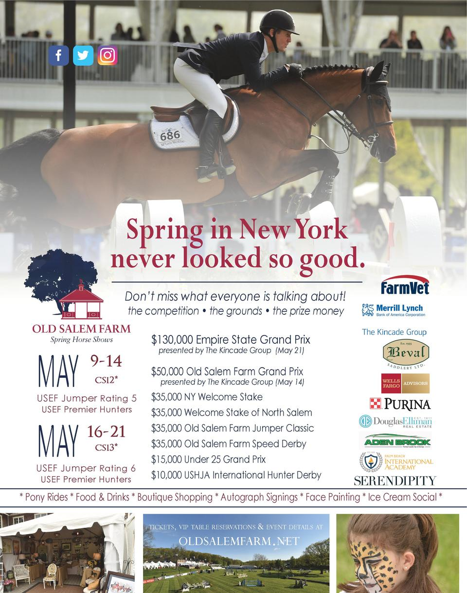 Spring in New York never looked so good. Don   t miss what everyone is talking about  the competition     the grounds     ...