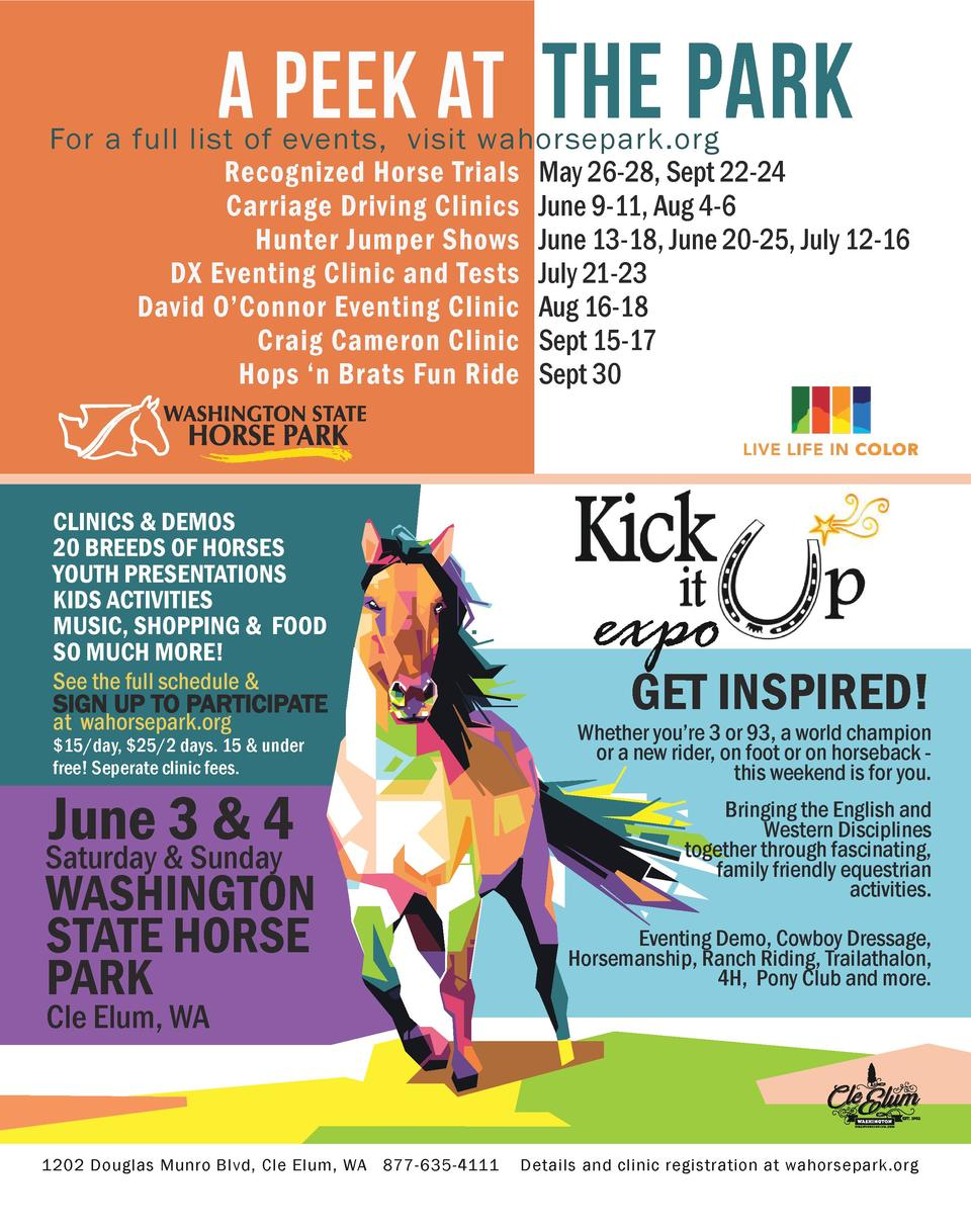 A peek at the Park  For a full list of events, visit wahorsepark.org Recognized Horse Trials May 26-28, Sept 22-24 Carriag...