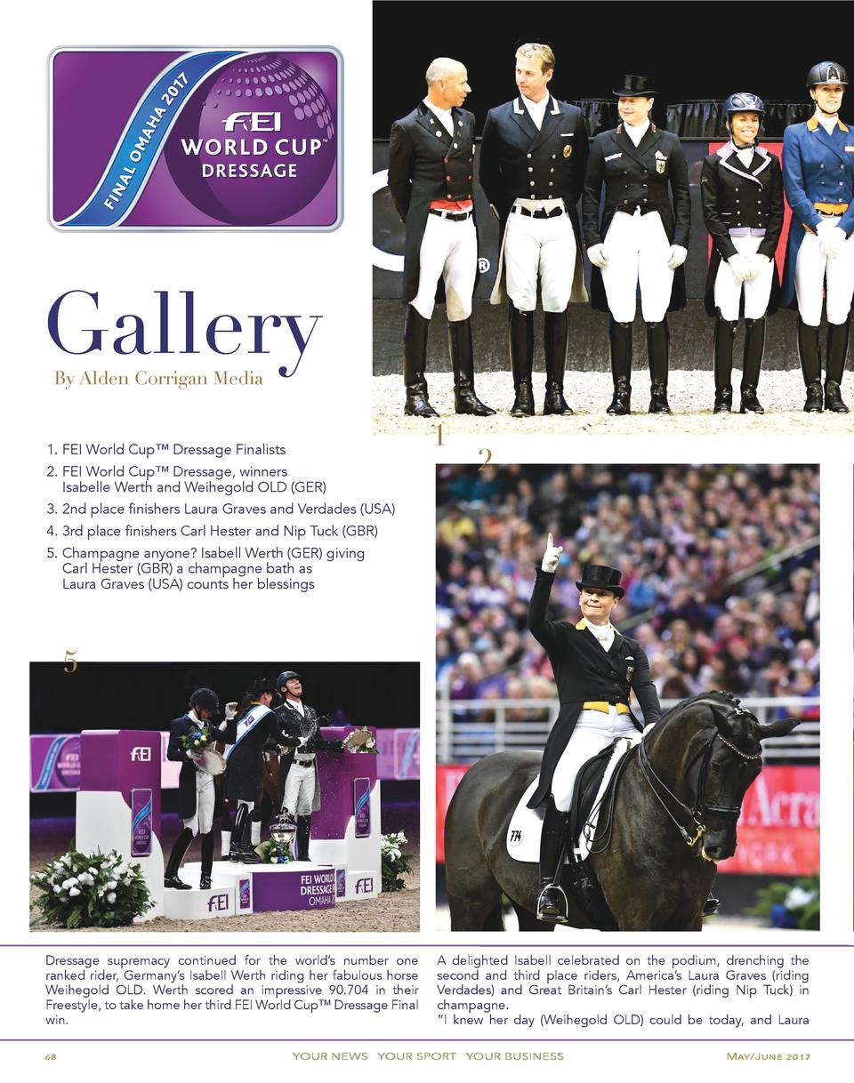Gallery By Alden Corrigan Media  1  1. FEI World Cup    Dressage Finalists 2. FEI World Cup    Dressage, winners    Isabel...