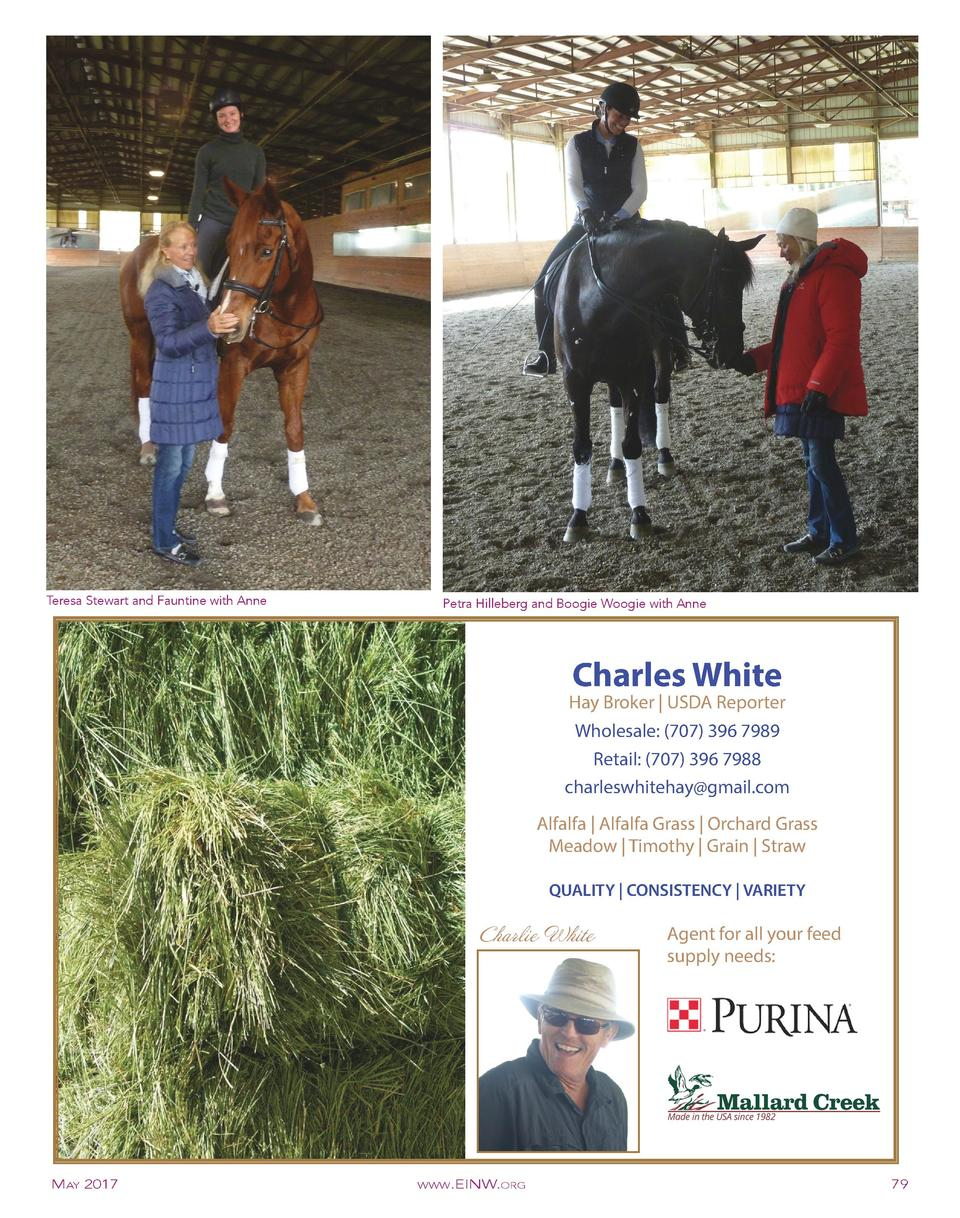 Teresa Stewart and Fauntine with Anne  Petra Hilleberg and Boogie Woogie with Anne  Charles White  Hay Broker   USDA Repor...