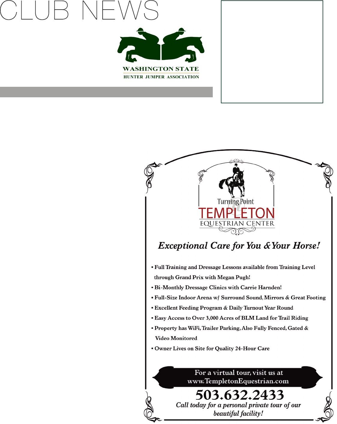The Competitive Equestrian Cricket Circuit Round Boar Washington