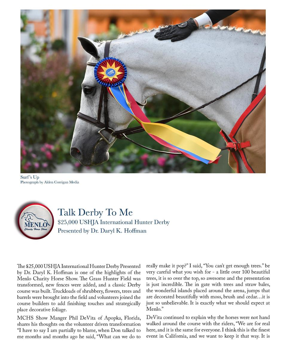 Surf    s Up  Photograph by Alden Corrigan Media  Talk Derby To Me   25,000 USHJA International Hunter Derby Presented by ...