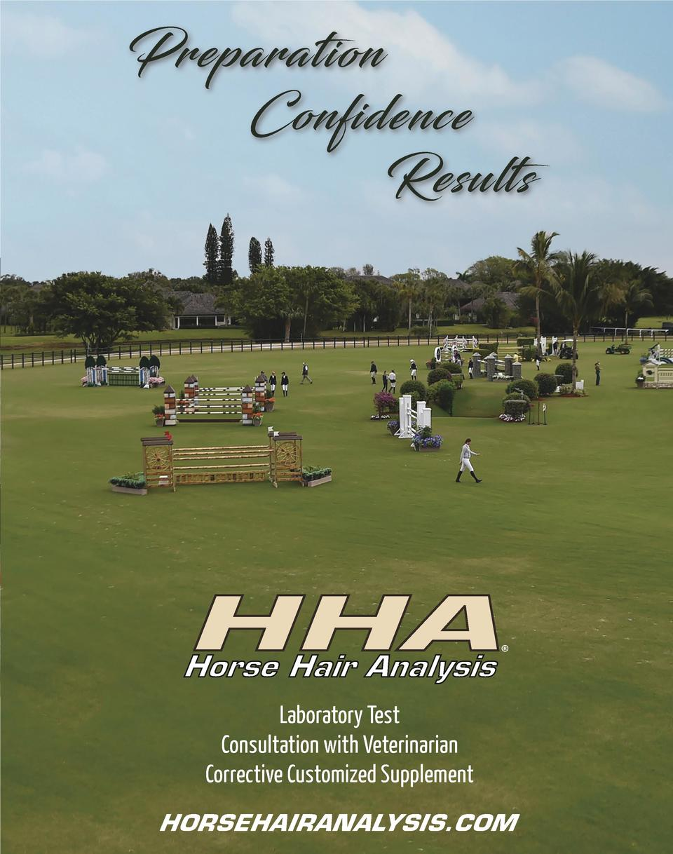 Preparation Confidence Results  HHA Horse Hair Analysis      Laboratory Test Consultation with Veterinarian Corrective Cus...