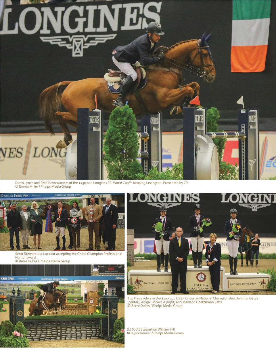 Denis Lynch and RMF Echo winners of the  250,000 Longines FEI World Cup    Jumping Lexington. Presented by CP    Emma Mill...