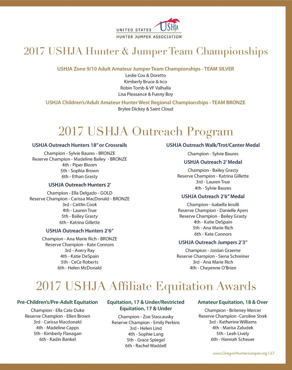 2017 USHJA Hunter   Jumper Team Championships USHJA Zone 9 10 Adult Amateur Jumper Team Championships - TEAM SILVER Leslie...