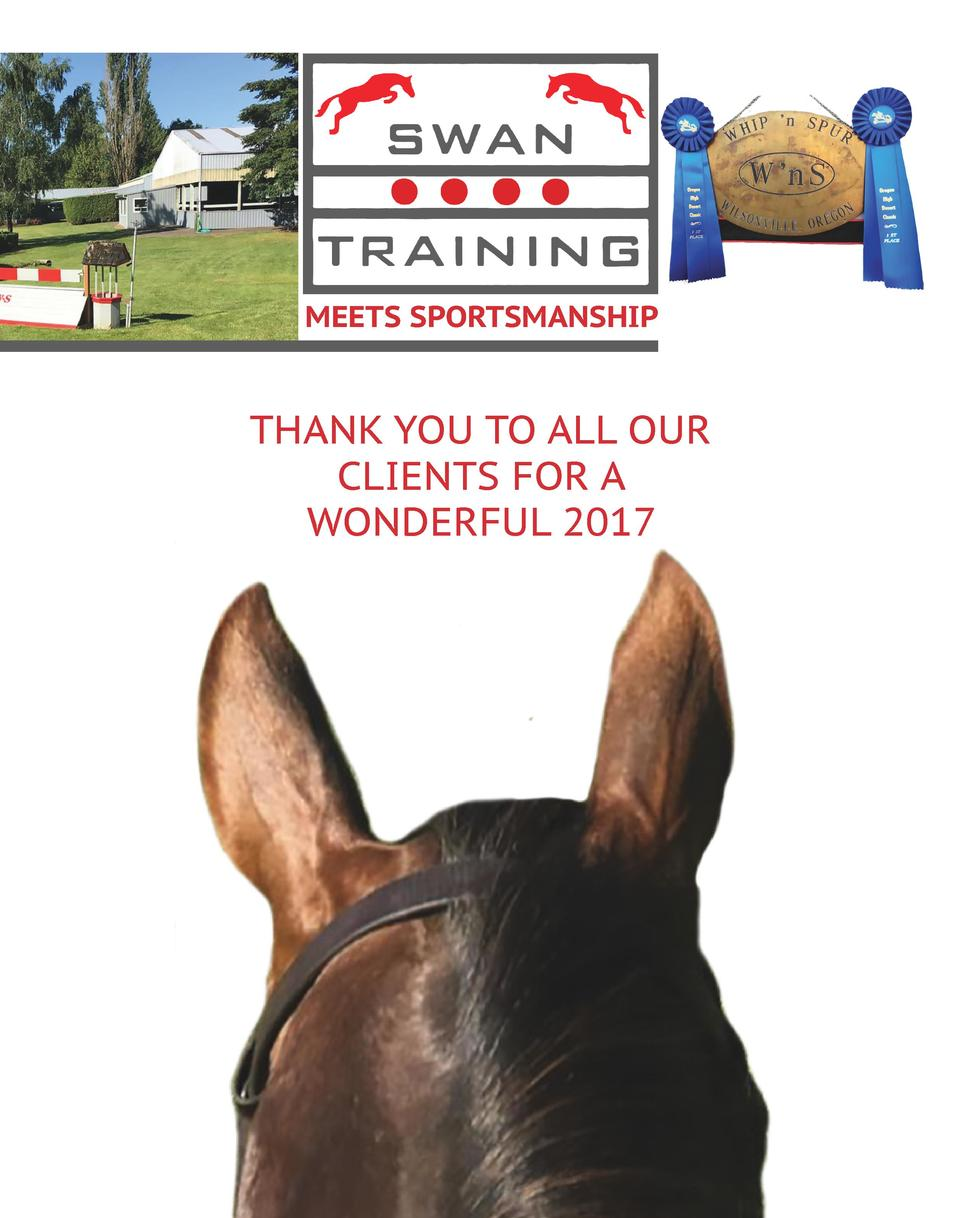 MEETS SPORTSMANSHIP  THANK YOU TO ALL OUR CLIENTS FOR A WONDERFUL 2017