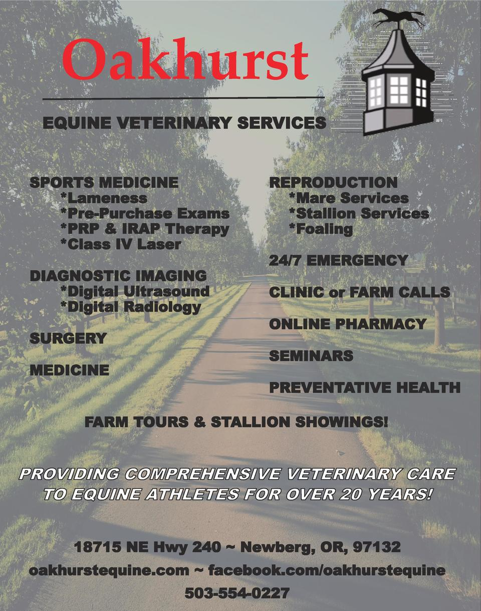 Oakhurst EQUINE VETERINARY SERVICES SPORTS MEDICINE  Lameness  Pre-Purchase Exams  PRP   IRAP Therapy  Class IV Laser DIAG...