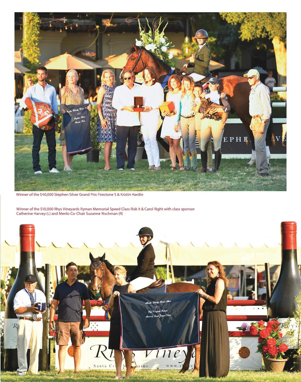Winner of the  40,000 Stephen Silver Grand Prix Firestone S   Kristin Hardin Winner of the  10,000 Rhys Vineyards Ryman Me...