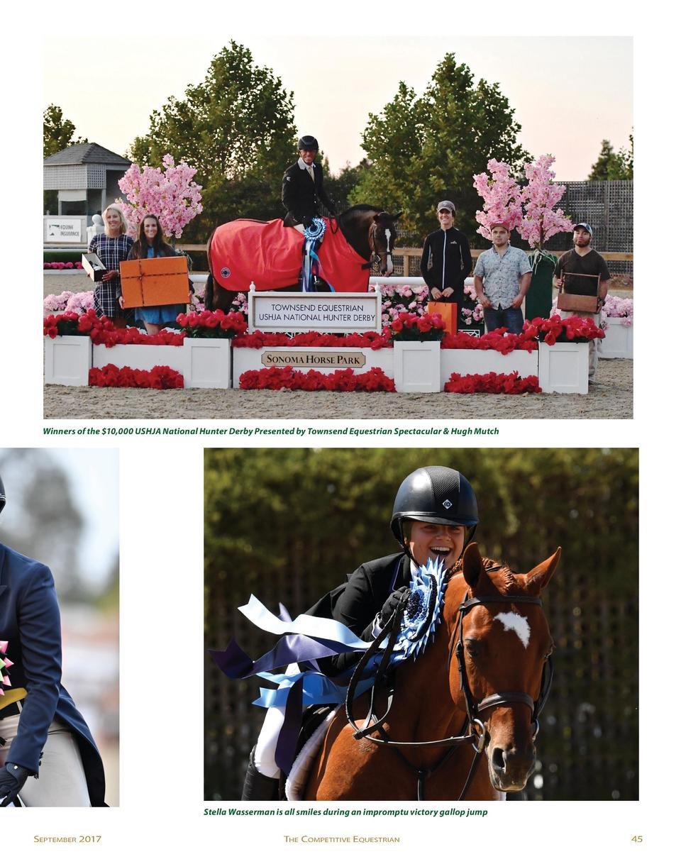 Winners of the  10,000 USHJA National Hunter Derby Presented by Townsend Equestrian Spectacular   Hugh Mutch  Stella Wasse...
