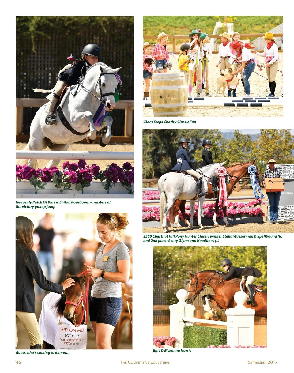 Giant Steps Charity Classic Fun  Heavenly Patch Of Blue   Shiloh Roseboom     masters of the victory gallop jump   500 Che...