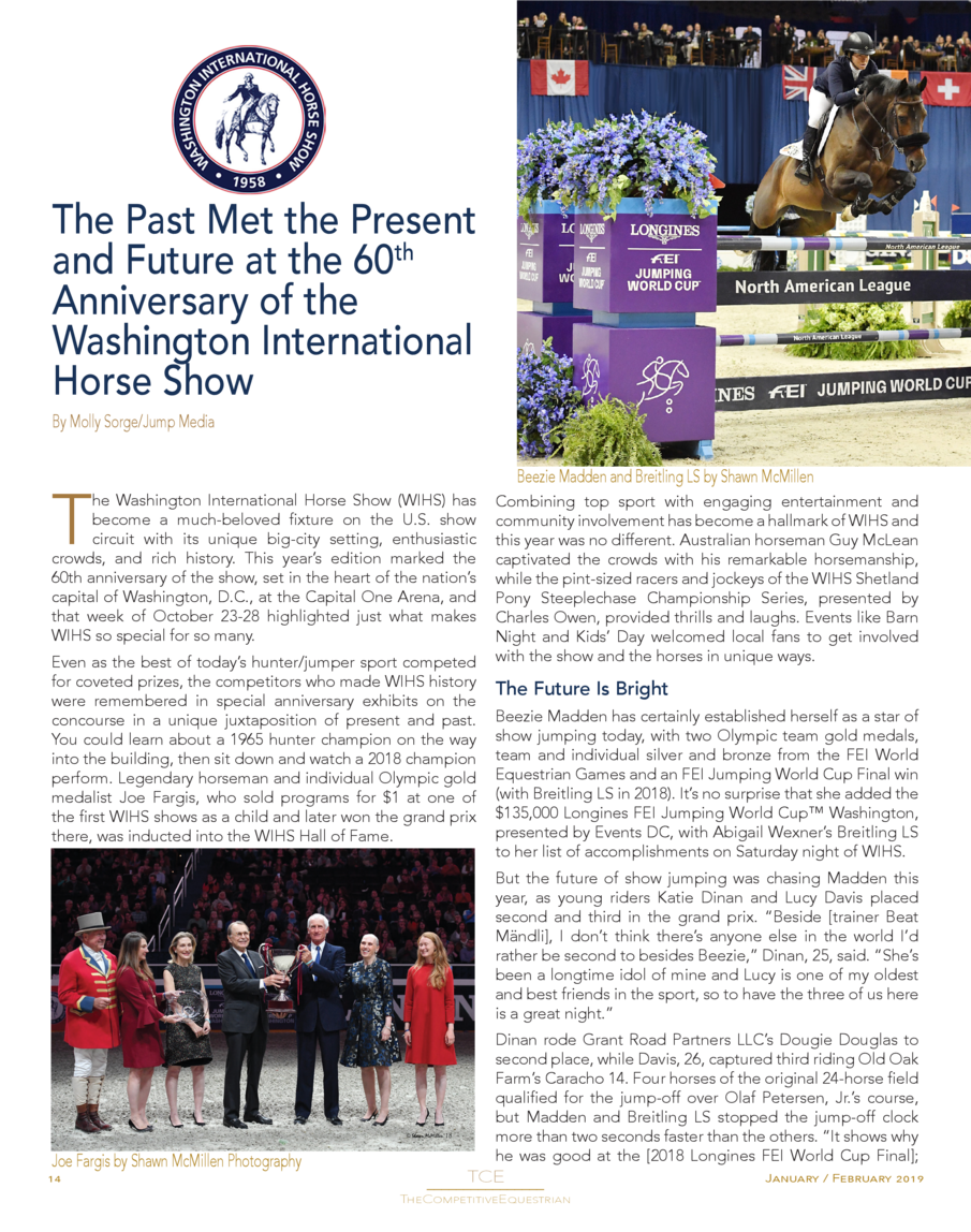 THE  COMPETITIVE EQUESTRIAN  November December 2018 Issue 19  Indoor Finals Highlights From Coast to Coast NRHA Futurity L...