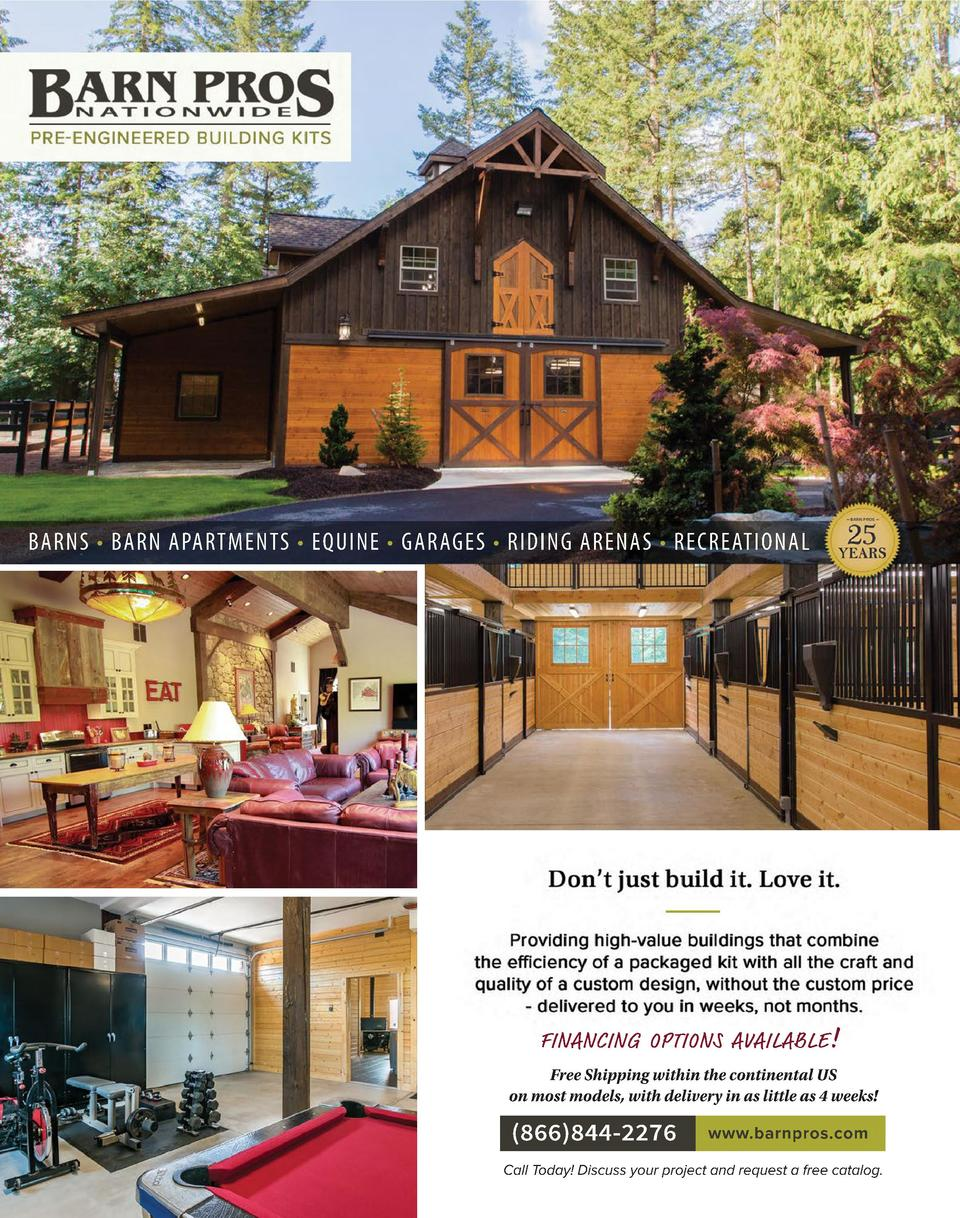BARNS     BARN APARTMENTS     EQUINE     GARAGES     RIDING ARENAS     RECREATIONAL  FINANCING OPTIONS AVAILABLE   Free Sh...
