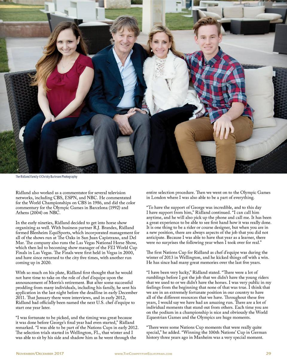 The Ridland Family   Christy Burleson Photography  Ridland also worked as a commentator for several television networks, i...