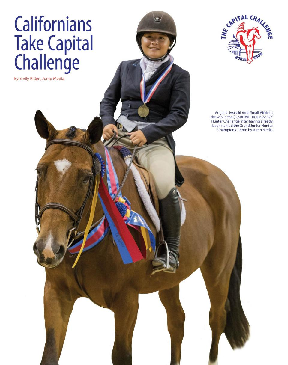 Californians Take Capital Challenge By Emily Riden, Jump Media  Augusta Iwasaki rode Small Affair to the win in the  2,500...