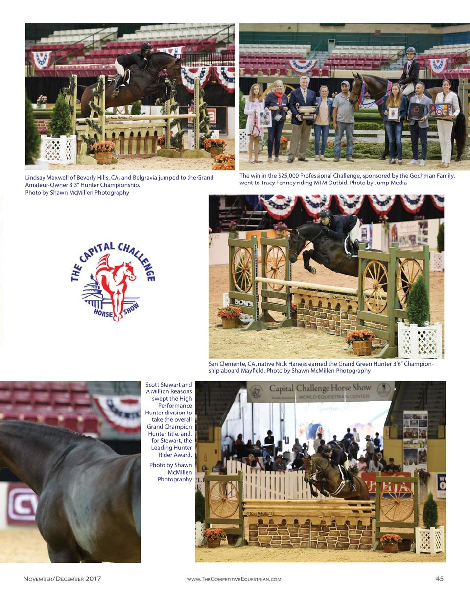 Lindsay Maxwell of Beverly Hills, CA, and Belgravia jumped to the Grand Amateur-Owner 3   3    Hunter Championship. Photo ...