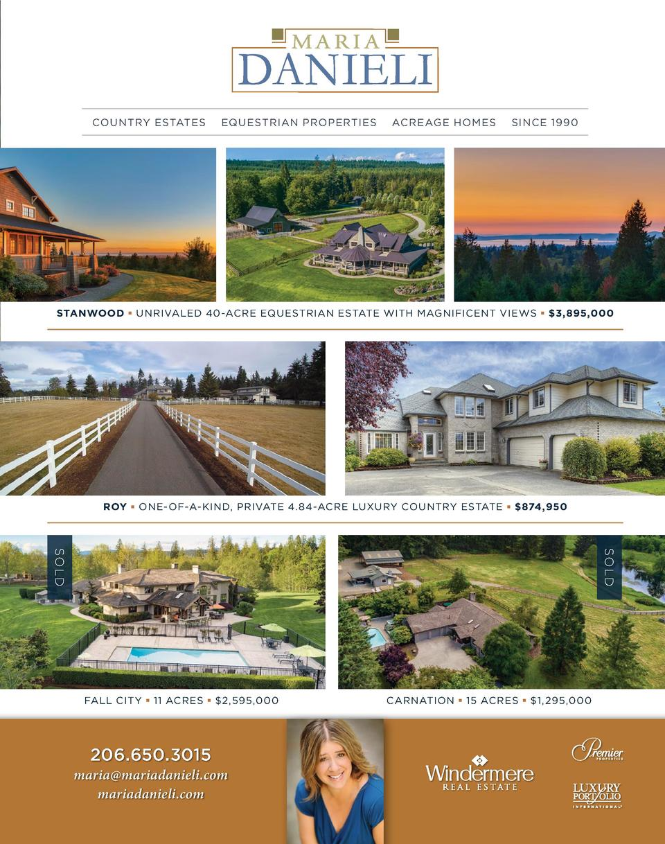COUNTRY ESTATES  EQUESTRIAN PROPERTIES  ACREAGE HOMES  SINCE 1990  STANWOOD     UNRIVALED 40-ACRE EQUESTRIAN ESTATE WITH M...
