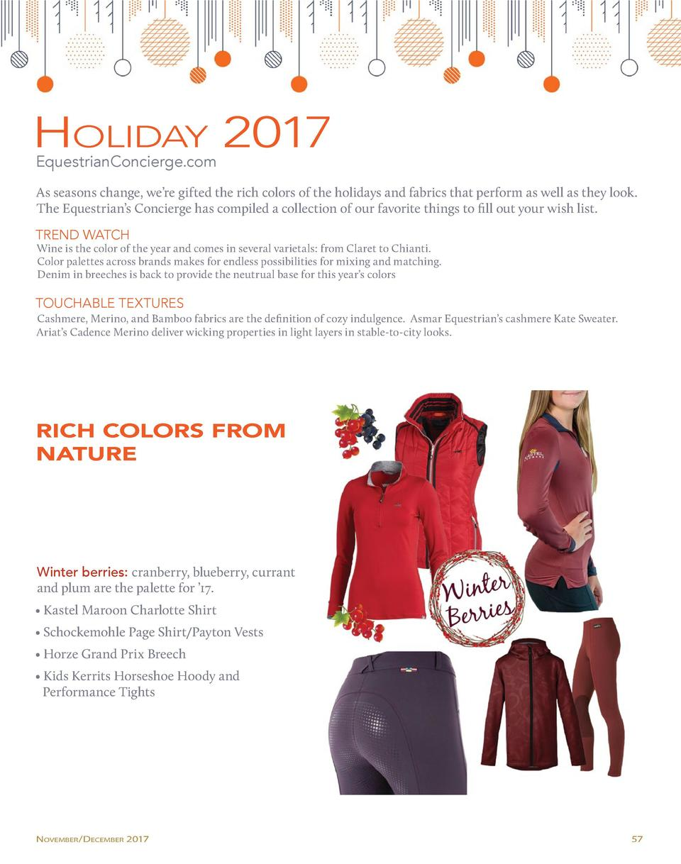 Holiday 2017 EquestrianConcierge.com  As seasons change, we   re gifted the rich colors of the holidays and fabrics that p...