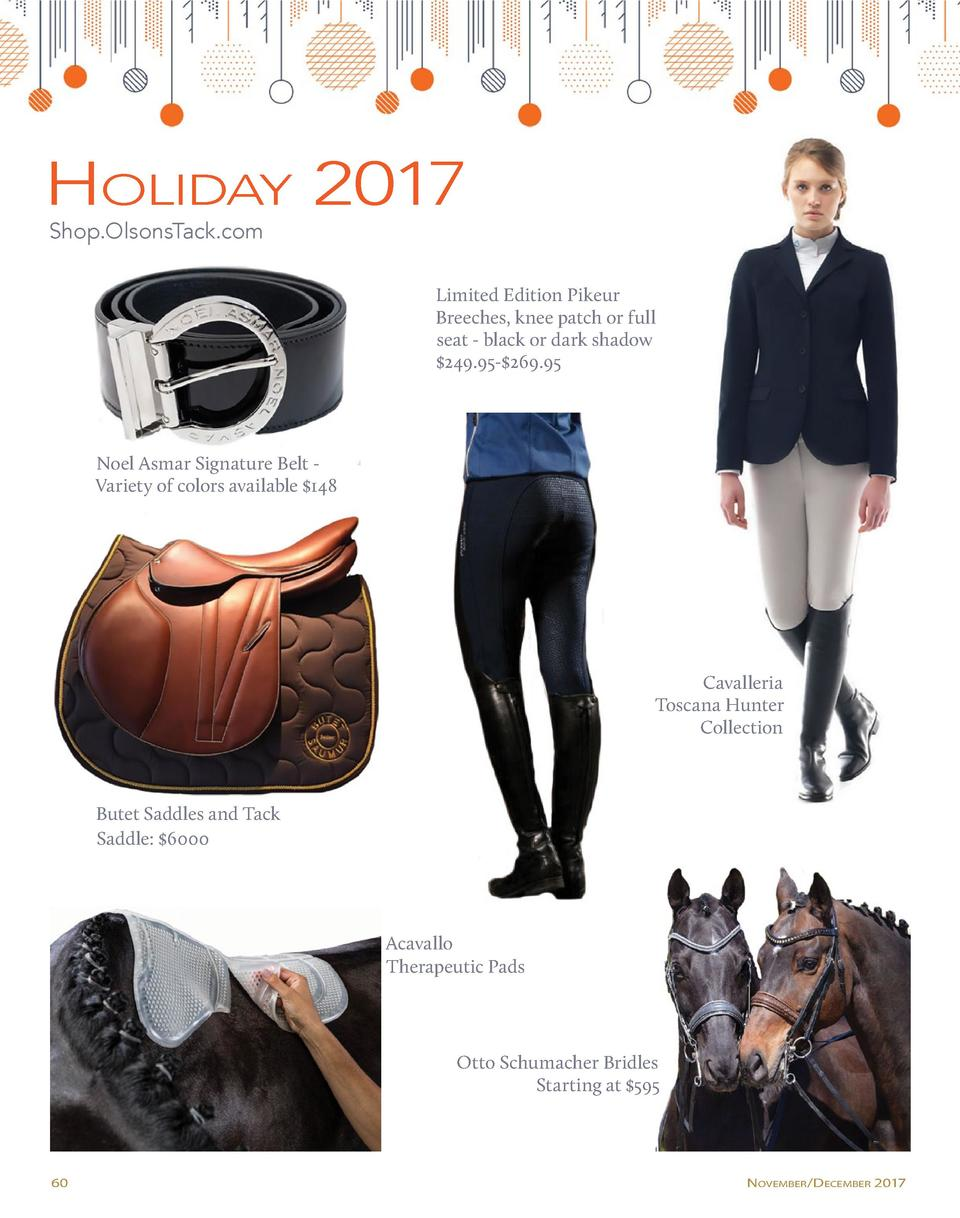 Holiday 2017 Shop.OlsonsTack.com  Limited Edition Pikeur Breeches, knee patch or full seat - black or dark shadow  249.95-...