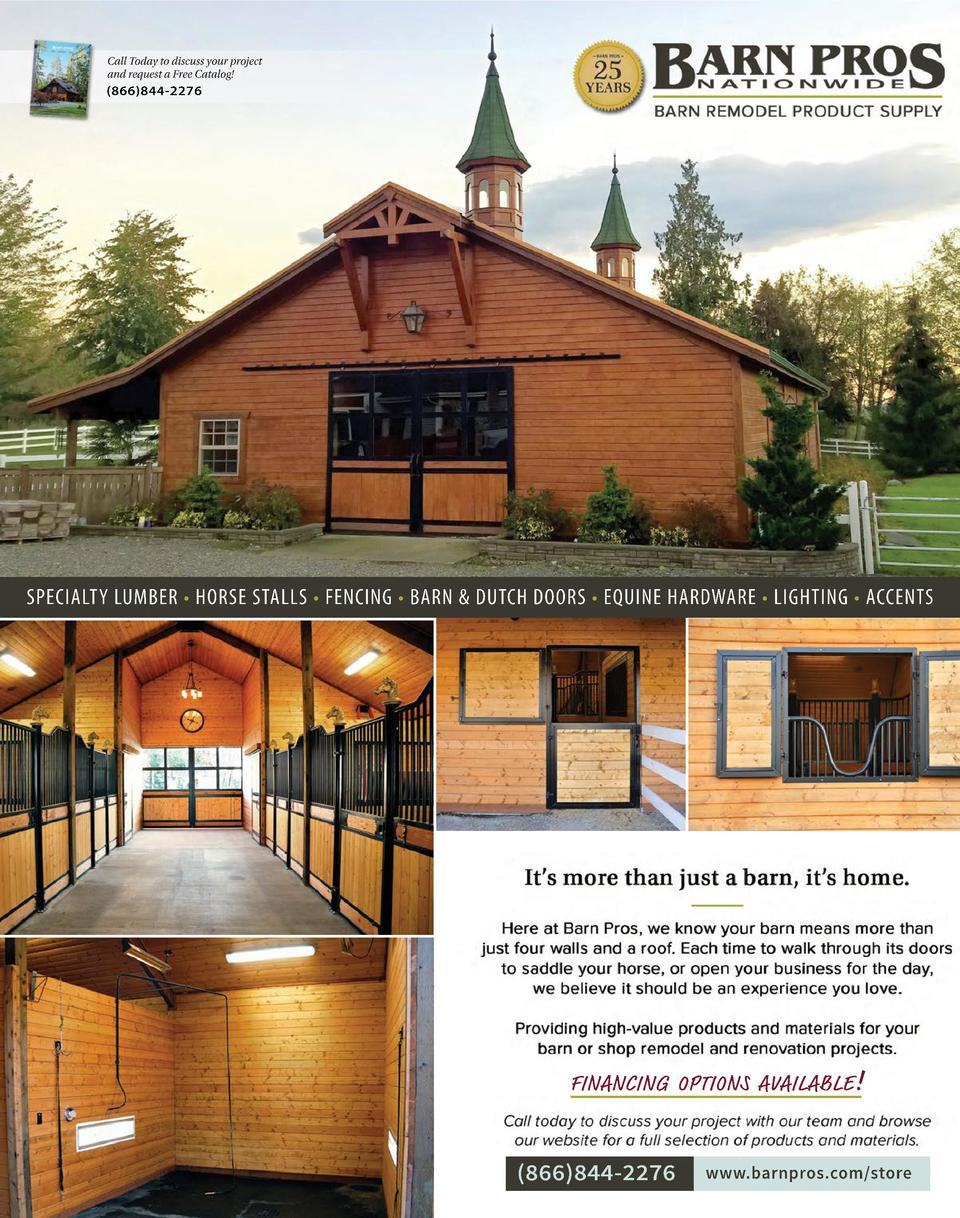Call Today to discuss your project and request a Free Catalog    866 844-2276  SPECIALTY LUMBER     HORSE STALLS     FENCI...