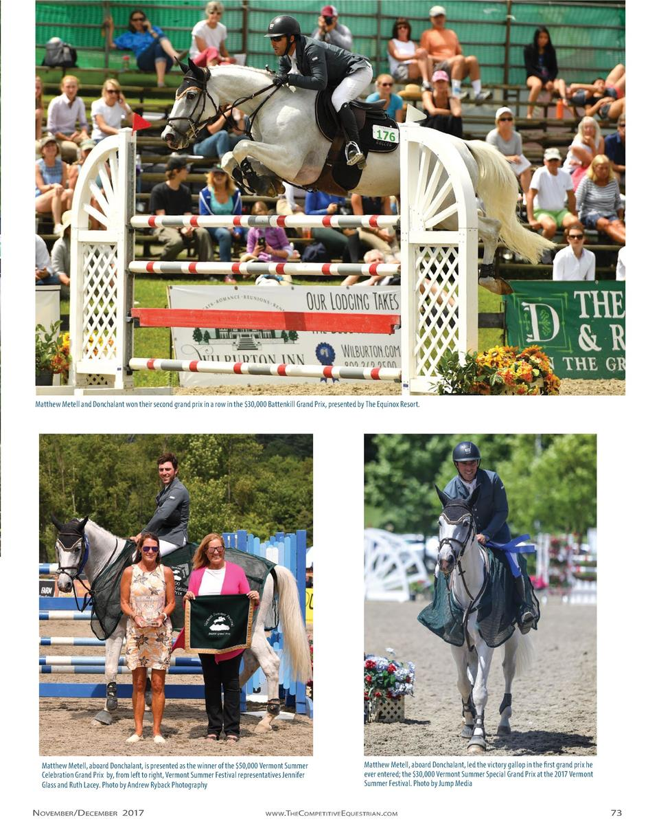 Matthew Metell and Donchalant won their second grand prix in a row in the  30,000 Battenkill Grand Prix, presented by The ...