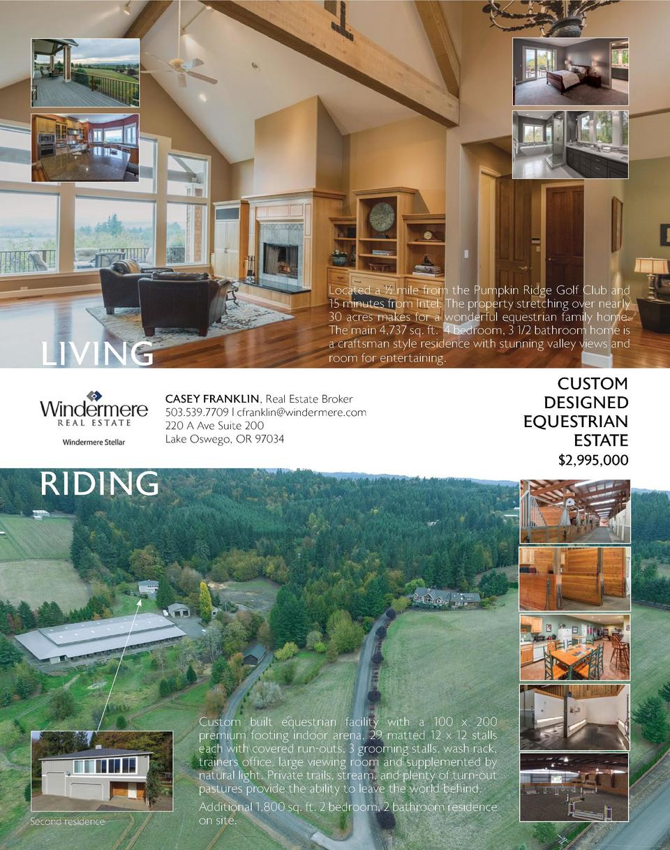 NEWS   Reviews By Fred  LIVING  Located a    mile from the Pumpkin Ridge Golf Club and 15 minutes from Intel. The property...