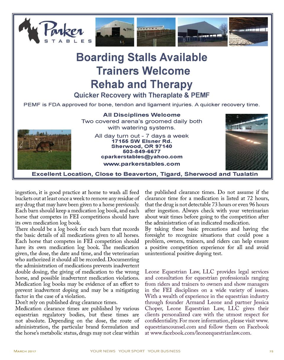 Boarding Stalls Available Trainers Welcome Rehab and Therapy  Quicker Recovery with Theraplate   PEMF PEMF is FDA approved...