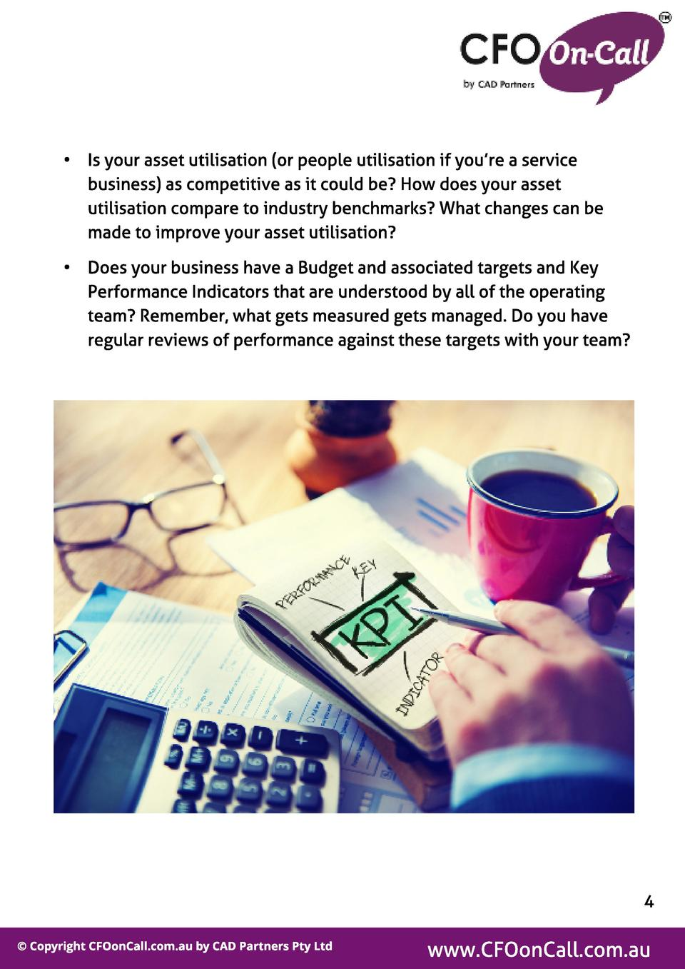 -  Is your asset utilisation  or people utilisation if you re a service business  as competitive as it could be  How does ...