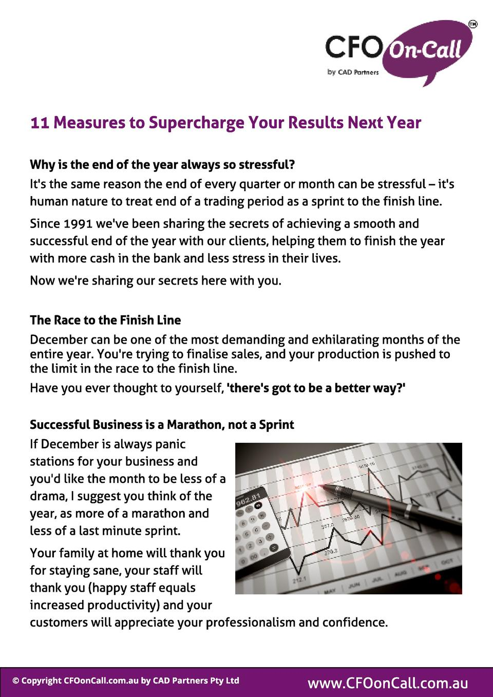 11 Measures t o Supercharge Your Resul t s Next Year Why is t he end of t he year al ways so st ressf ul   It s the same r...