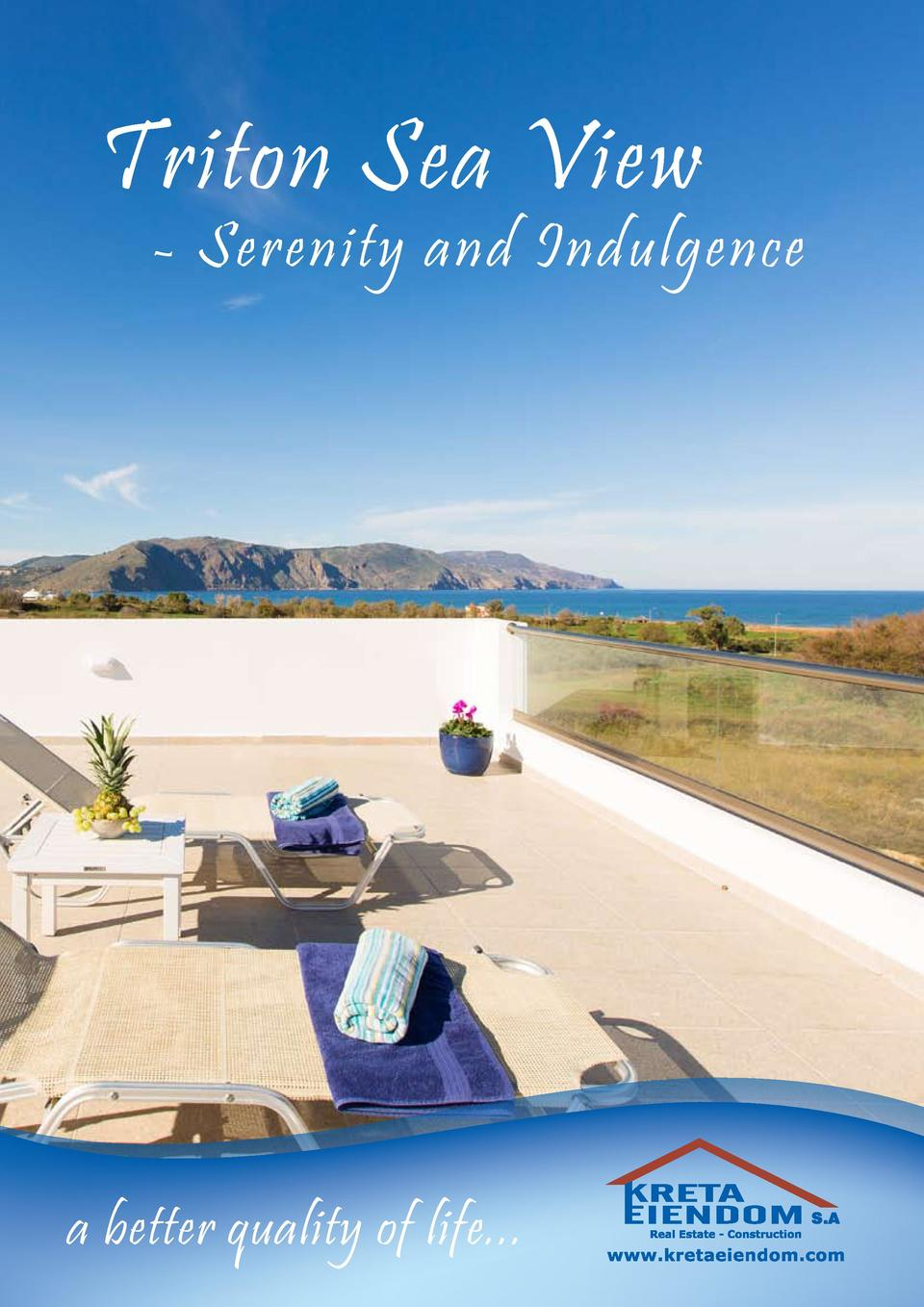 Triton Sea View  - Serenity and Indulgence  a better quality of life...