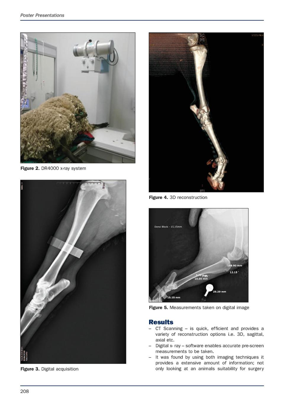 Poster Presentations  Figure 2. DR4000 x-ray system  Figure 4. 3D reconstruction  Figure 5. Measurements taken on digital ...
